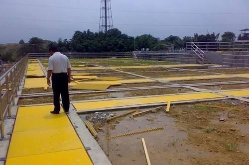 黄色喷漆钢格板